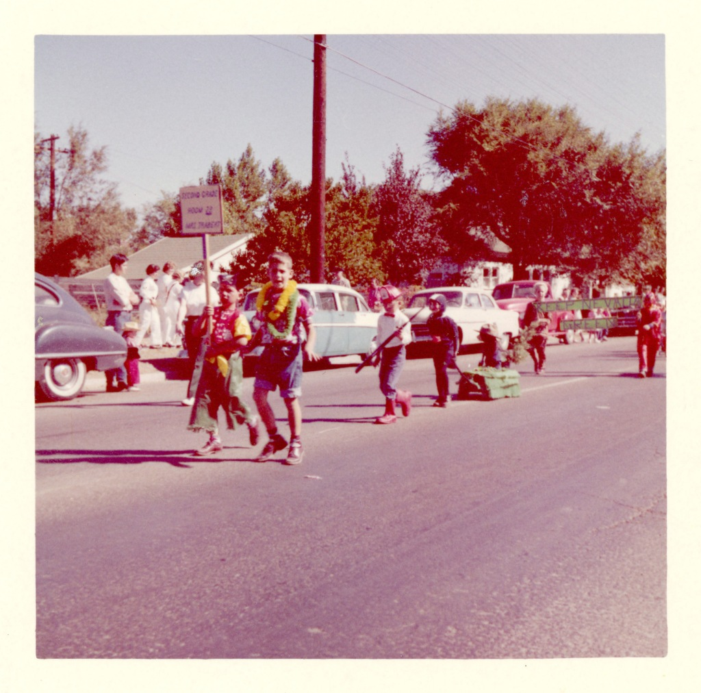 Children marching in parade 1961